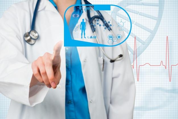 拡張現実感のある医師 無料写真
