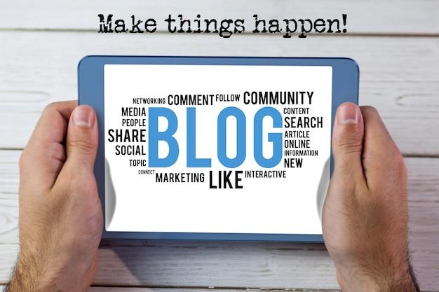 あなたは「ブログ」を読むことができたタブレット 無料写真