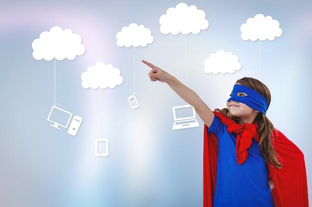 技術雲少しスーパーヒーロー 無料写真