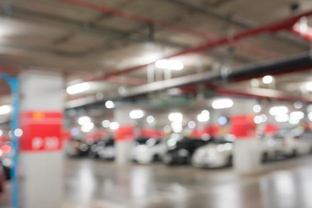 Абстрактный размытия парковка в здании Premium Фотографии