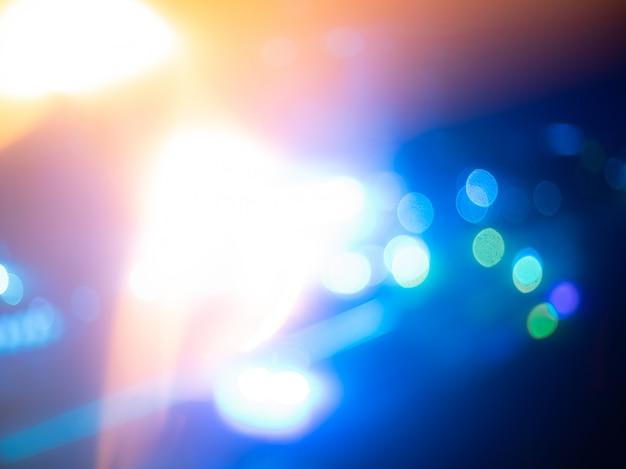 抽象的な青いライト、やり場のない夜景 Premium写真