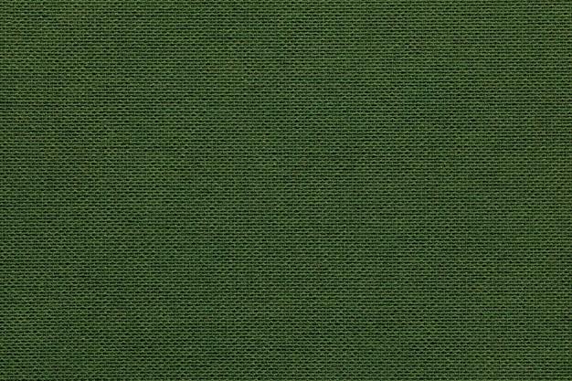 枝編み細工品と繊維材料からの濃い緑色の背景 Premium写真