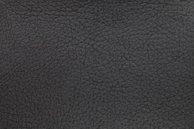 黒革のテクスチャ背景。クローズアップ写真。爬虫類の皮。 Premium写真