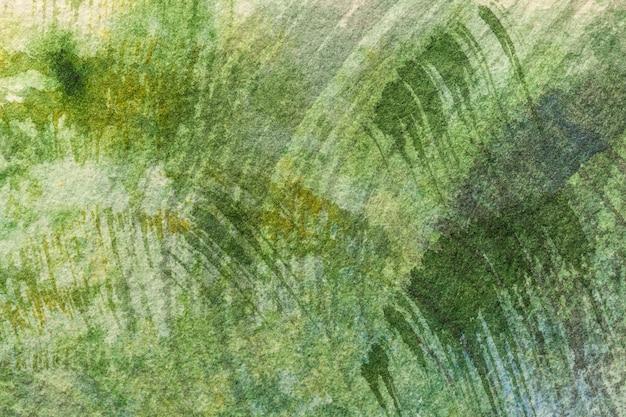 Абстрактное искусство фон светло-зеленого цвета. акварельная живопись Premium Фотографии