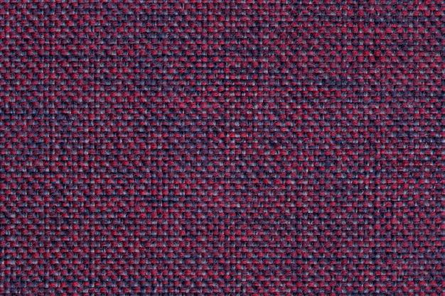 市松模様、クローズアップ、ファブリックマクロの構造とマゼンタ繊維の背景 Premium写真