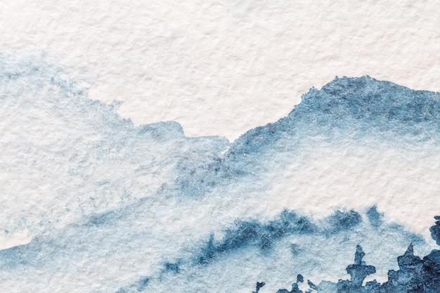 Абстрактное искусство фон светло-голубой и белый цвета, акварель на холсте, Premium Фотографии
