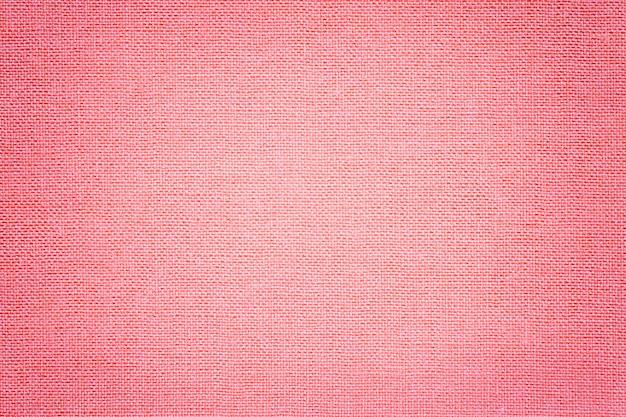 Светло-розовый фон из текстильного материала с плетеным узором, Premium Фотографии