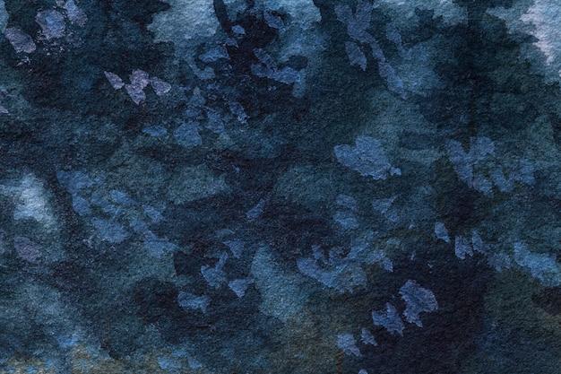 Абстрактное искусство фон темно-синий цвета. акварельная живопись на холсте. Premium Фотографии