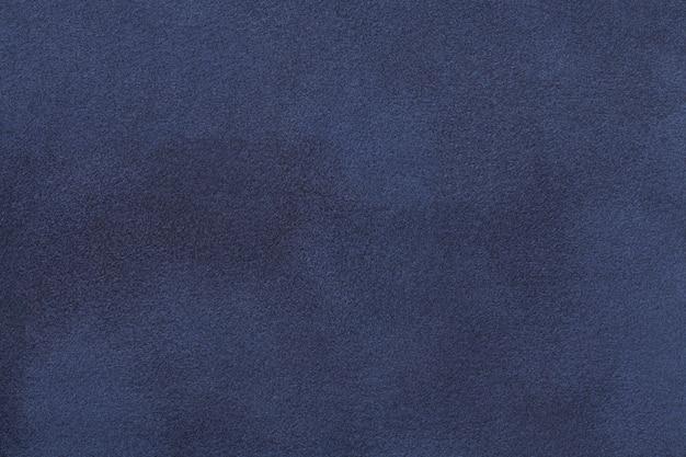 ネイビーブルーのマットスエード生地ベルベットの質感、 Premium写真