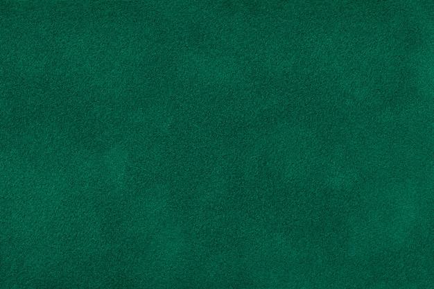 Темно-зеленая матовая замшевая ткань бархатной текстуры, Premium Фотографии