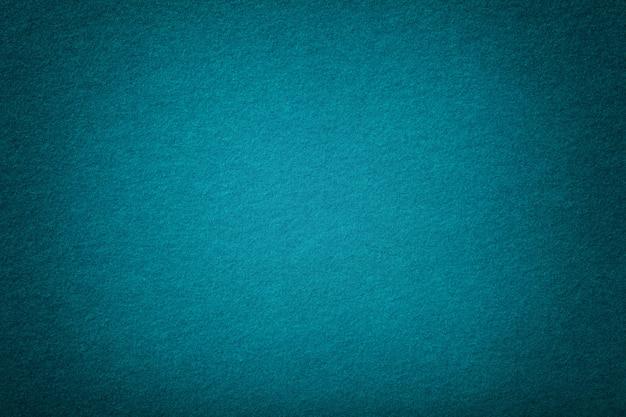 フェルトのダークターコイズマットスエード生地ベルベットの質感、 Premium写真