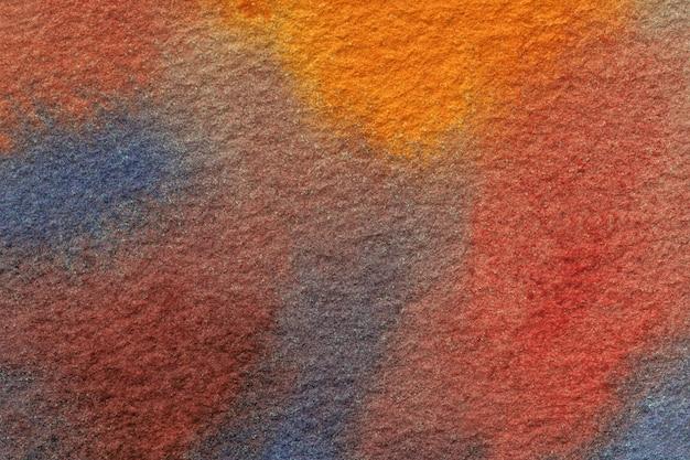 Абстрактное искусство фон темно-синий и красный цвета. акварельная живопись на холсте. Premium Фотографии