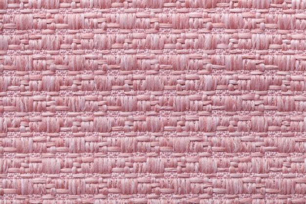 ソフトのパターンでピンクのニットウールの背景 Premium写真