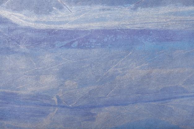 抽象芸術の背景ネイビーブルーの色。キャンバスに多色塗装。 Premium写真