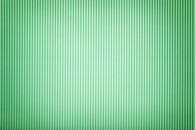 ビネットと段ボールの緑紙のテクスチャ、マクロ。 Premium写真