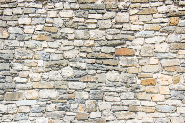 石の壁のクローズアップ。 Premium写真