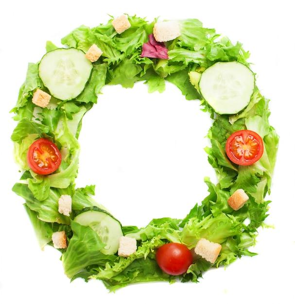 Письмо о сделано со здоровой пищей Бесплатные Фотографии