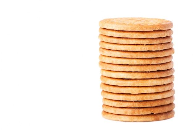 積み重ねおいしいクッキーのクローズアップ 無料写真