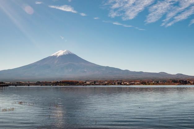 河口湖の富士山 無料写真