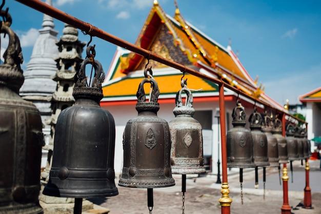 Колокол в тайском храме в бангкоке Бесплатные Фотографии