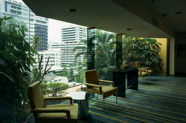 ホテル内のリラックスエリア 無料写真