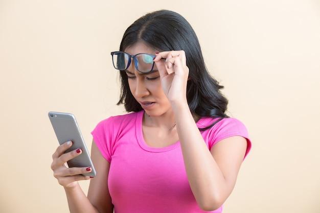 近視などの目の問題 無料写真