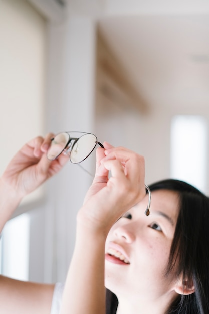 少女とメガネ 無料写真
