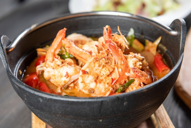 タイのトムヤムスープ 無料写真