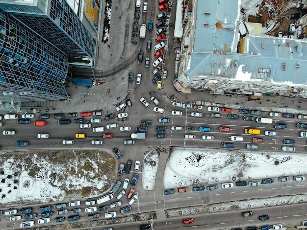 俯瞰から見た大都会の通り 無料写真