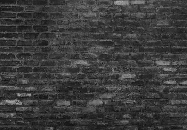 ブラックレンガの壁 無料写真