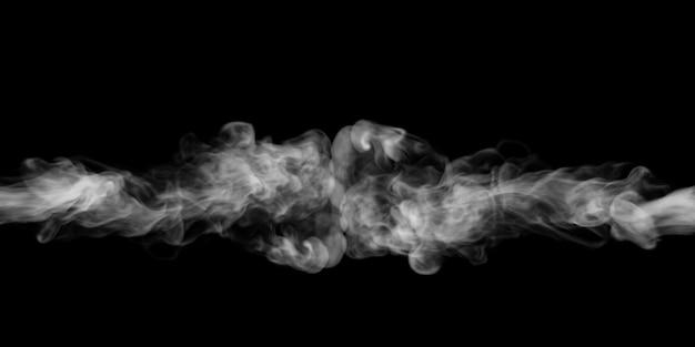 Дым взрывается на черном фоне Premium Фотографии