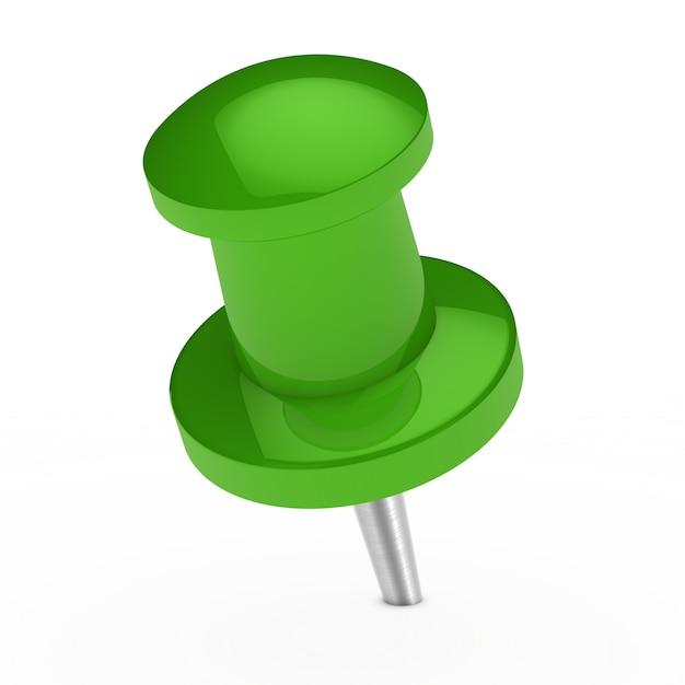 明るい緑の画鋲 無料写真