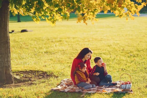 小さな子供たちと美しい母親 無料写真