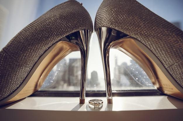 エレガントな結婚式の靴 無料写真