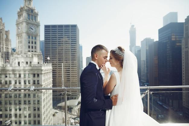 美しい結婚式のカップル 無料写真