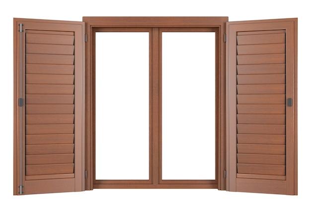 木製窓 無料写真