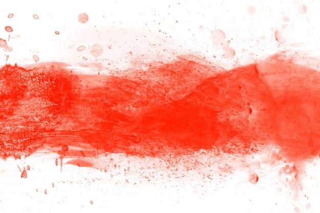 レッド水彩ブロット 無料写真