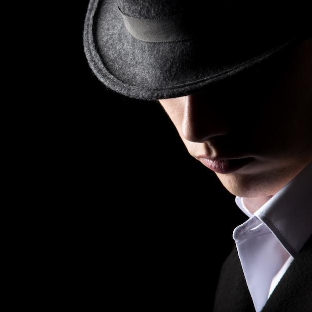 Привлекательный неузнаваемый человек в шляпе Бесплатные Фотографии