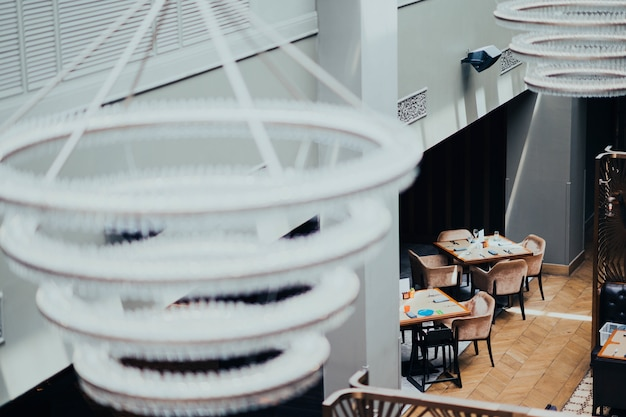 喫茶店のランプ 無料写真