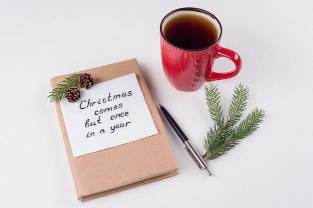 メリークリスマスの挨拶または願い Premium写真
