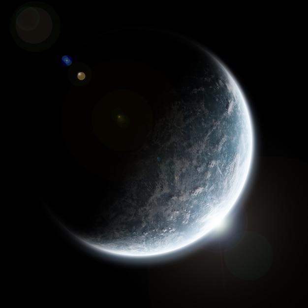 惑星爆発の黙示録 Premium写真