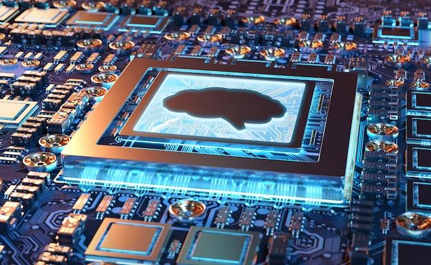 Искусственный интеллект в современной видеокарте Premium Фотографии
