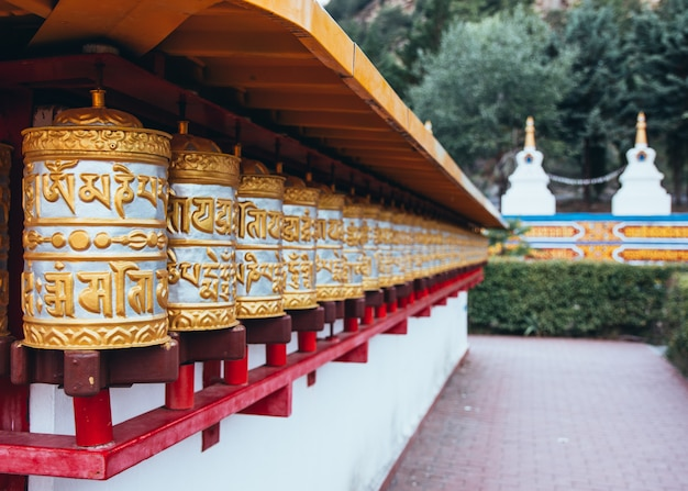 Детали буддийский храм даг шан кагью в панильо уэска арагон испания Premium Фотографии
