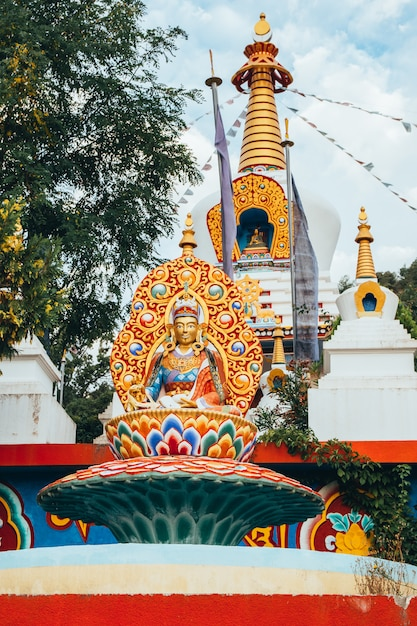 Буддийский храм дага шан кагью в панильо уэска арагон испания Premium Фотографии