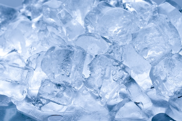 氷が溶ける背景 Premium写真