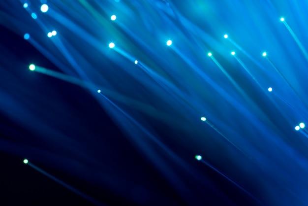 Волоконная оптика, абстрактный и размытый фон Premium Фотографии
