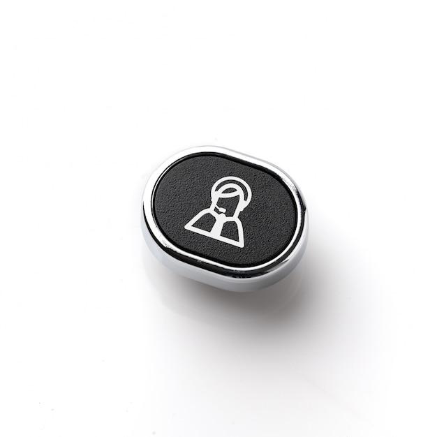 レトロキーボードのカスタマーサービスとお問い合わせアイコン Premium写真