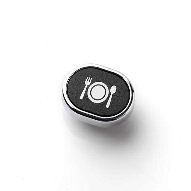Значок путешествия на клавиатуре компьютера в стиле ретро для концепции онлайн-бронирования Premium Фотографии