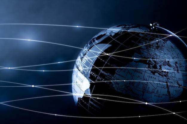 技術と将来のコンセプトのためのグローバルネットワーク Premium写真