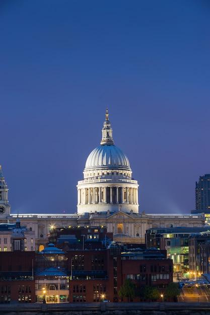 セントポールとロンドンのミレニアムブリッジ Premium写真